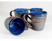 4 Custom name mugs, Personalized mug Set, handmade, perfect Groomsman, bridesmaid, wedding gift, Christmas present
