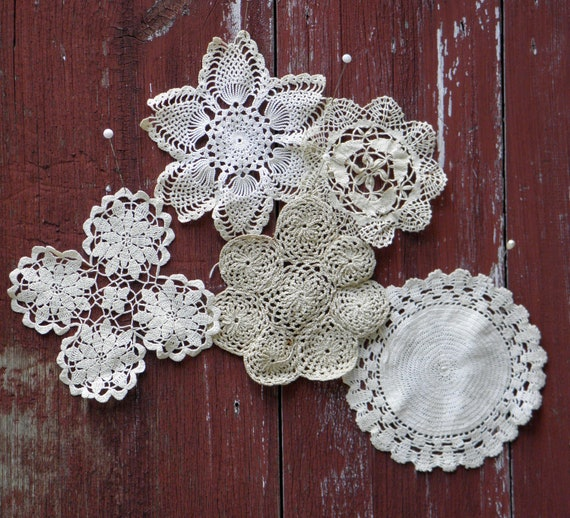 Vintage Crochet Doily Crafting Lot