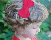 Large Plain Jane Wool Felt Bow by Chic Baby Rose
