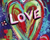 "Love 6"" x 8"" Original Painting Pop Art Perfect for Valentines Day - NYoriginalpaintings"