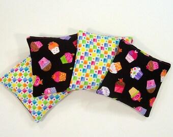 Kids Bean Bag Set - CUPCAKE SURPRISE - Set of 4 - Party Favor - Stocking Stuffer - Kids