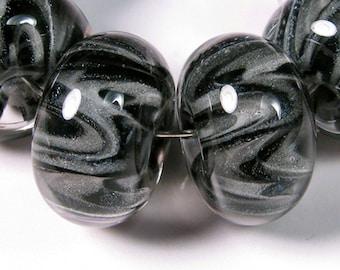 Lampwork Beads - Storm Cloud Sparkle  - BBGLASSART - Lampwork Boro Glass Beads