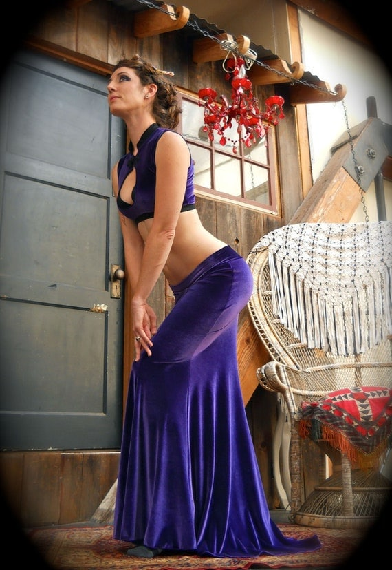 SMALL Ready To Wear Super Bootie Low Rise Mermaid Skirt in Purple