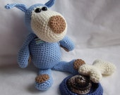 Crochet Pattern...Blue Dog...PDF pattern