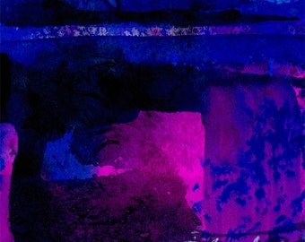 Blue, Purple, Pink, abstract painting, Landscape Art, Original Contemporary Modern art by Kathy Morton Stanion EBSQ