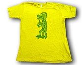 S'Gator  Woodblock Printed Tee Shirt in hand printed gift box