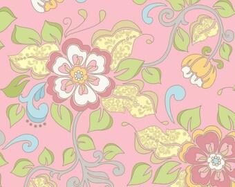 Priscilla by Lila Tueller, Main Pink , RIley Blake, Yard