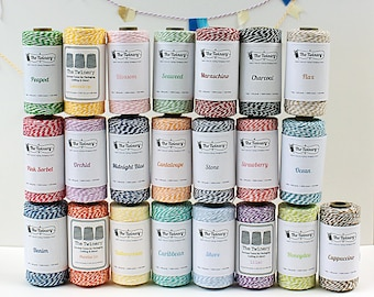 SALE Bakers Twine Spool - Gift Wrap // Packaging // Scrapbooking - 240 yard - Colorful