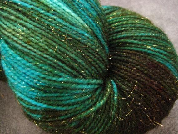 Sparkle Sock Yarn - Merino/Nylon/Stellina - 438 yds - Dryad