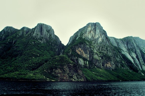Dreamy Rugged Mountain Photograph Print - Roots of the Mountains