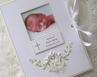 Baptism Photo Album, Personalized Photo Album, Baby Gift, Christening Gift, Dedication, Newborn Gift, Photo Brag Book, 5x7, 6x7.5