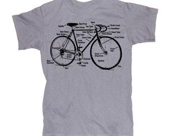 Mens BIKE DIAGRAM T-shirt