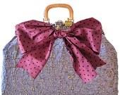 lavender carpetbag