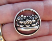 Crown Button, Large Silver Metal Button, Steampunk, 7/8 Inch, Great Purse Closure, Goth, Royalty