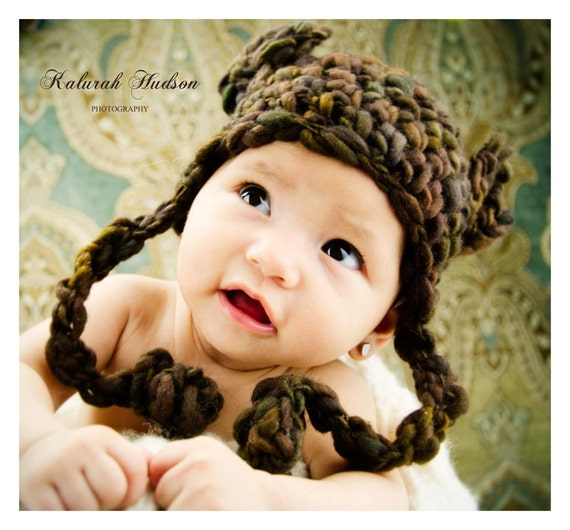 Ursa Minor Earflap Hat CROCHET Pattern