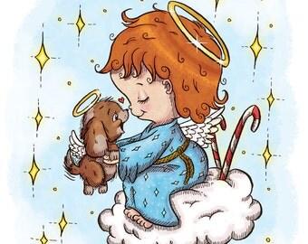 Little Angel with Puppy (DIGI STAMP)