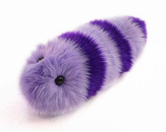 Stuffed Caterpillar Stuffed Animal Cute Plush Toy Caterpillar Kawaii Plushie Taffy the Purple and Lavender Snuggle Worm Medium 6x18 Inches