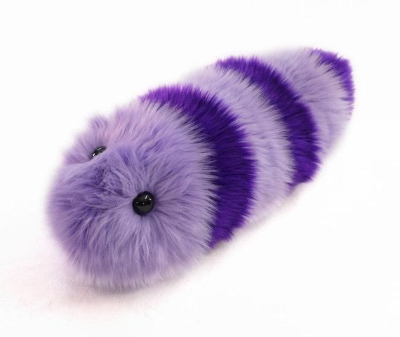 Stuffed Caterpillar Stuffed Animal Cute Plush Toy Caterpillar Kawaii Plushie Taffy the Purple and Lavender Snuggle Worm Medium 6x18 Inches