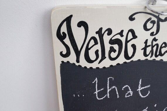 Verse of the Week Chalkboard - Medium