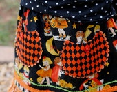 Boutique Custom Girls Vintage Style Halloween Skirt  12m - 12