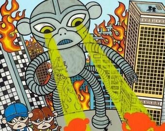 Robot Destruction Art Print