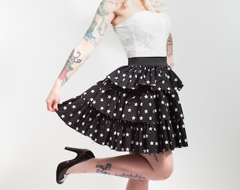 SALE Stars Ruffle Skirt, Any Size.