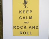 Keep Calm and Rock and Roll Elvis Presley Art Print to benefit dog rescue