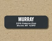Chalkboard return address labels, self-adhesive address stickers, return address labels for teachers,