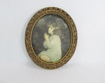 Vintage Frame With Silk Picture