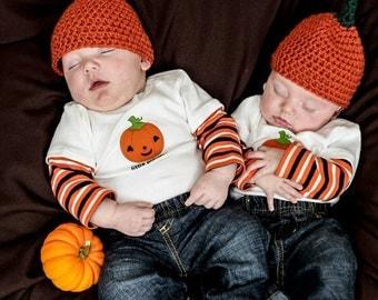 Halloween Pumpkin Baby Hat