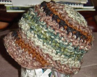 Mens Crochet Newsboy Beanie