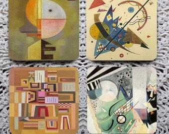 Compositions -- Kandinsky Mousepad Coaster Set
