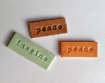 Word Tile Ceramic Porcelain Choice 50 cents a letter