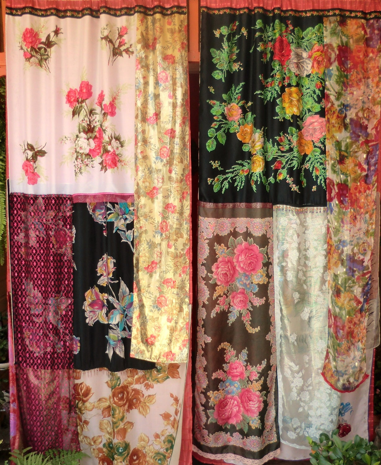 LOST BOHEMIA Handmade Gypsy Curtains by BabylonSisters on Etsy