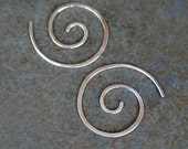 Little Spiral Earrings Sterling Silver, Size Small, Nautilus Spiral