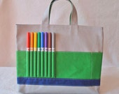 Coloring Bag Crayon Tote Crayon Bag Arts & Crafts Travel ARTOTE READY To SHIP in SnowPark