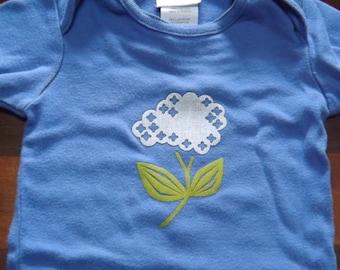 Hydrangea Baby-6-9 mos Onesie