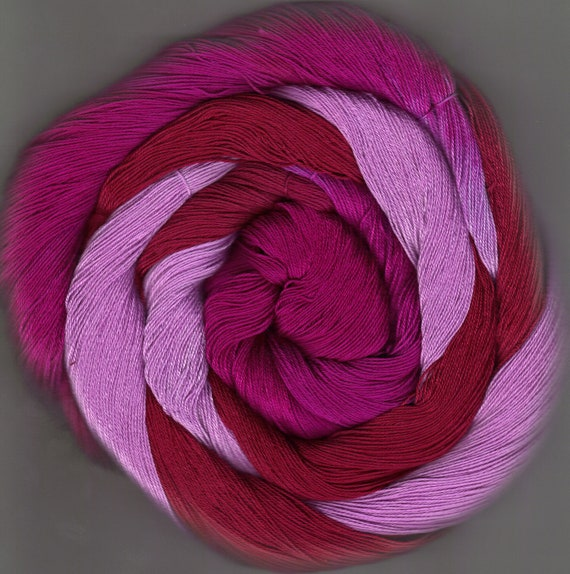 150 yards Hand Dyed Size 10 Cotton Crochet Thread Eudora Colorway