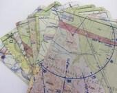Passport Holder- Vintage '60's Aeronautical Map of Southern California- choose 1