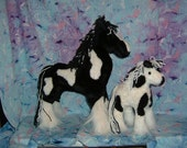 Clydesdale Pair and Shire Horse Pair Stuffed Animal Pattern to SEW