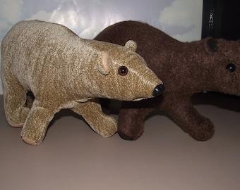 Bear Walking, Kodiak, Grizzley, Polar, Stuffed Animal Pattern to Sew, Instant Download