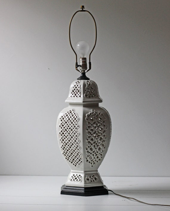 Reserved blanc de chine porcelain table lamp large white for Table de chine