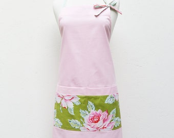 Audrey Apron for Ladies - Pink Roses