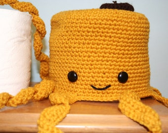 Octopus Toilet Paper Cover - Yellow