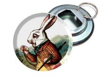 Alice In Wonderland White Rabbit Bottle Opener