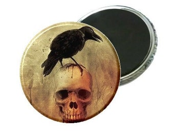 Magnet - Raven On Skull