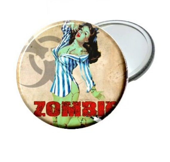 """Mirror - Stripe Top  Pin Up Zombie Lady image 2.25"""""""