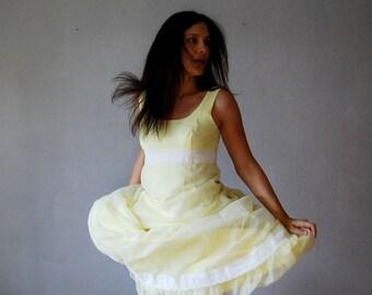 vintage wedding 1960s SWISS DOT chiffon maxi dress