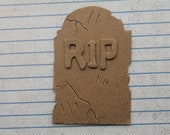 Chipboard Halloween Diecuts 3 Bare chipboard Tombstones w/RIP Letters