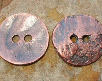 Greek Casting Beads - 4 Cornflake Button - Bronze Casting Cornflake Button Beads